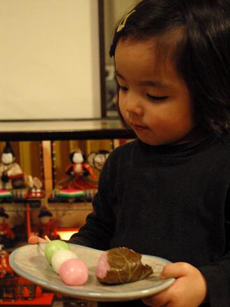 桜餅と三色団子