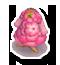 ピンクのはなのドレスL