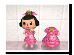 ピンクのはなのドレス
